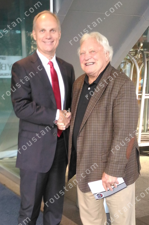 W. Graeme Roustan with the Golden Jet, Bobby Hull