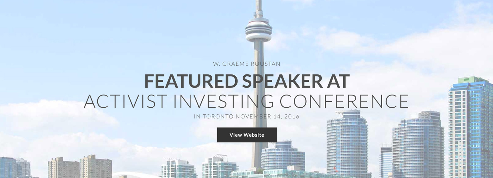 Home Page Sliders Featured Speaker at Upcoming Activist Investing Conference