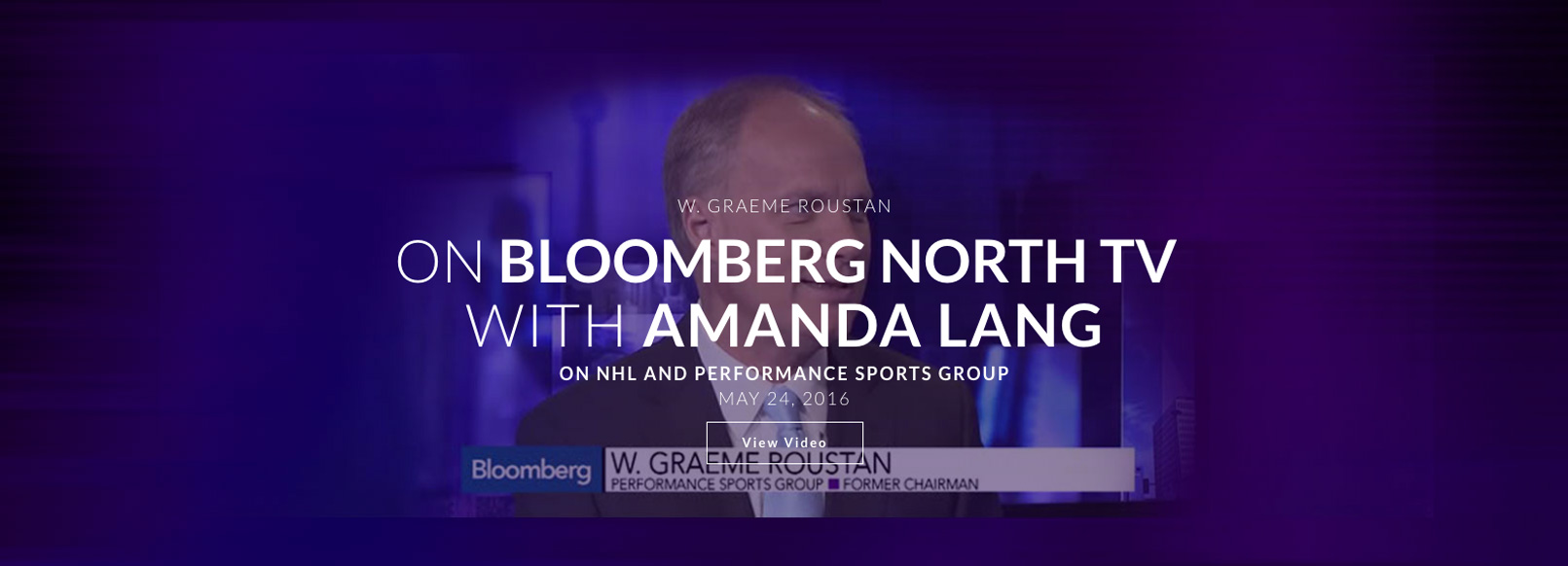 Home Page Sliders Appears on Bloomberg North TV